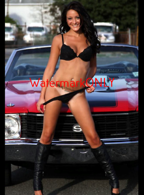 "SUPER ULTRA HOT ""LEGGY"" Car Babe & Chevy Chevelle SS ""Pin-UP"" PHOTO! #(408)"