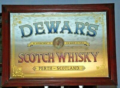 Dewar's Scotch Whisky Mirror  PERTH SCOTLAND Appointment to H M Queen Vict ory