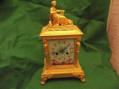Large French Striking Carriage Style Enamel Ormolu Clock The Very Best Quality