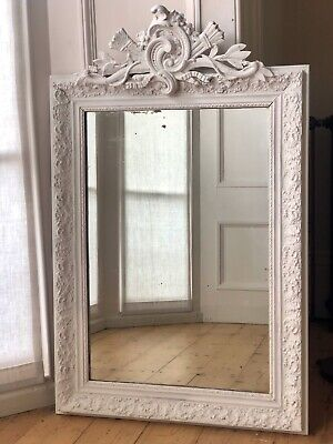 19th century French Louis XV painted mirror