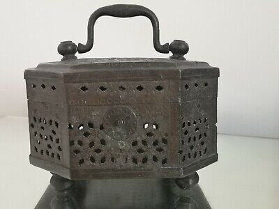 Antique Chinese Eight Sided Hand Warmer / Cricket Cage / Censer 19th Century