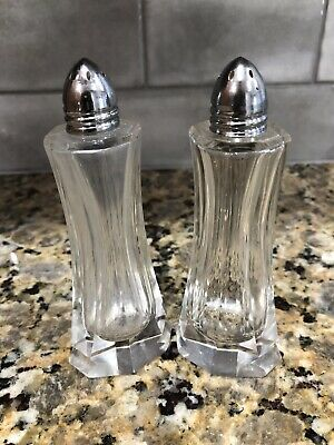 Art Deco Style RARE Crystal Prism Salt and Pepper Shakers