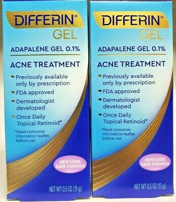New Differin Gel Adapalene Gel 0 1 Acne Treatment 1 6 Oz 45 G 23 00 Picclick