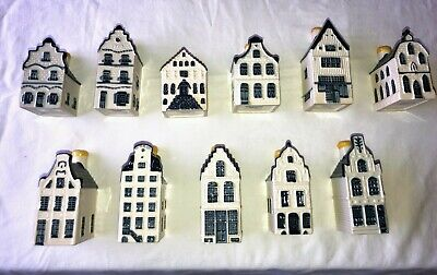 Blue Delft Houses KLM Porcelain Collectible Holland Canal - Select your number