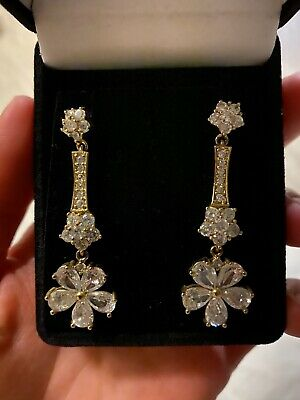 beautiful gold and CZ earring