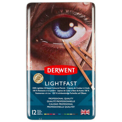 Derwent Lightfast Colored Pencils, for Artist, Drawing, Professional, 12 Pack