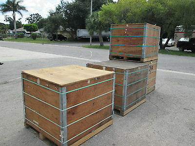 Shipping or Storage containers, boxes, wood crates (heavy duty)