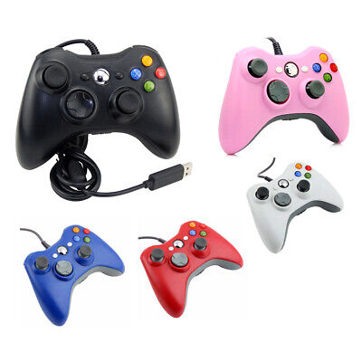 Wired USB Console Gamepad Controller Joypad For Microsoft XBOX 360 PC Windows 10