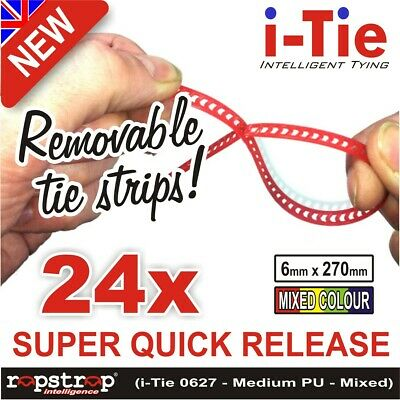 Rapstrap i-Tie: the REUSABLE quick release tie strips for cables, plants or bags