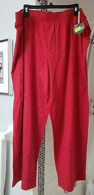 NWT Sleep Sense PJ Full length pants Red Circles 3x (matching top listed)