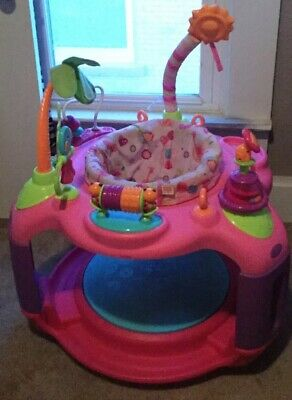 Bright Starts Pretty In Pink Sweet Safari Bounce-A-Round Baby Activity