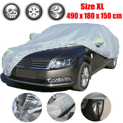 Heavy Duty Full Car Cover Rain Snow UV Protection Outdoor Breathable Size XL UK