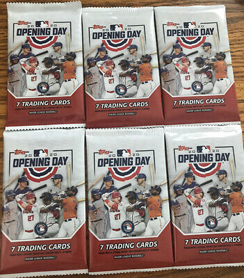 (6) Pack Lot 2020 Topps Opening Day Baseball From Box BUY ONE GET ONE 50 % OFF