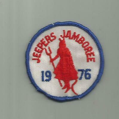 1976 Jeepers Jamboree Jeep Amc Georgetown California Patch Old Twill Devil