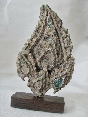 Mounted Antique Bronze Buddhist Fragment / Finial from Thailand