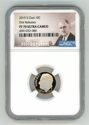 2019 S Clad Roosevelt Dime 10C Ngc Pf70 First Releases Ultra Cameo 1032-086