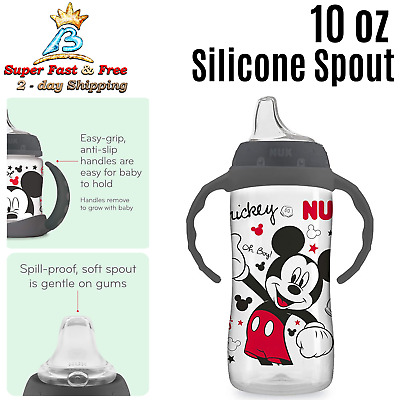 Babies Large Feeding Mickey Mouse Sippy Cup Drinking Water Bottle Learner 10 oz