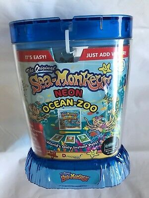 Amazing Live Sea Monkeys Ocean Zoo Marine Aquarium NEON Blue 23232