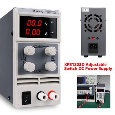 KPS1203D Adjustable Switch DC Power Adapter Supply Output 0-120V 110V 0-3A Fast