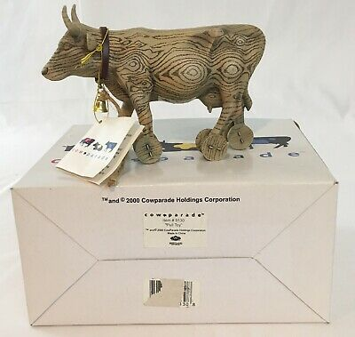 Cow Parade Pull Toy #9130 Westland 2000 ****Retired**** w/Box Tag