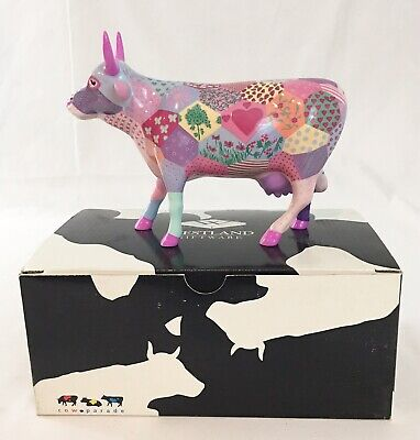 Cow Parade Patchwork Cow #7322 Westland 2003 ****Retired**** Rare-***In Box