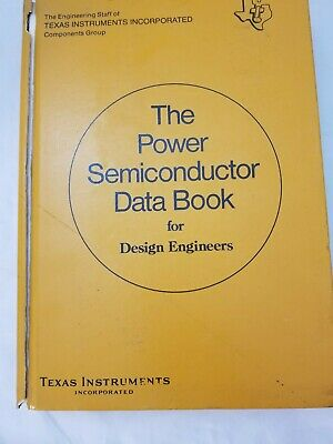 Vintage 1970s The Power Semiconductor Data Book for Design Engineers TI