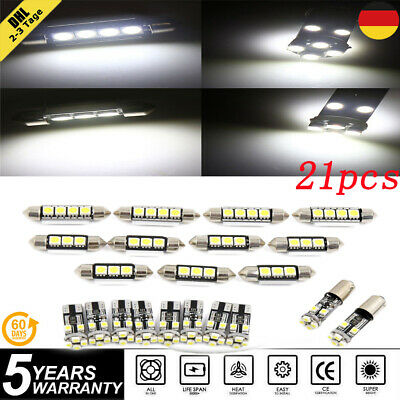 21x CANBUS LED SMD Innenraumbeleuchtung Für BMW E46 Sedan Coupe M3 99-05 Weiß DE