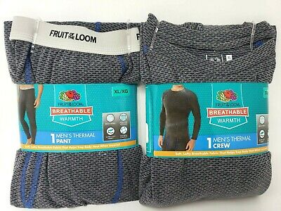 Fruit Of The Loom Breathable Warmth Men's Thermal Crews & Pants M-2XL
