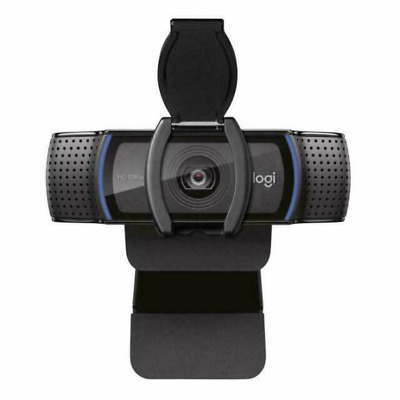 Logitech C920S HD Pro Webcam with Privacy Shutter - Widescreen Video Calling and