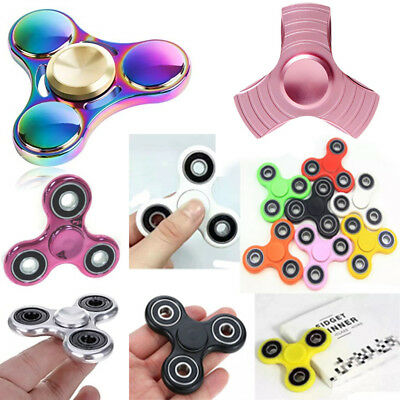 Fidget Spinner Colorful Metal LED Hand Spinner EDC Fingertip Gyro Stress Toys