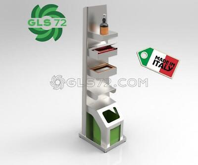 Distributore Dpi Colonnina Inox Dispenser Gel Sanificante Igienizzante Gls72