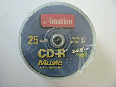 Imation 25 CD-R Music 1x-24x Compatable Discs
