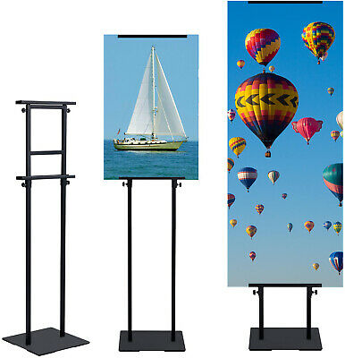 Adjustable up to 82in,1 pc,Sign Holder Pedestal Poster Stand for Display Height