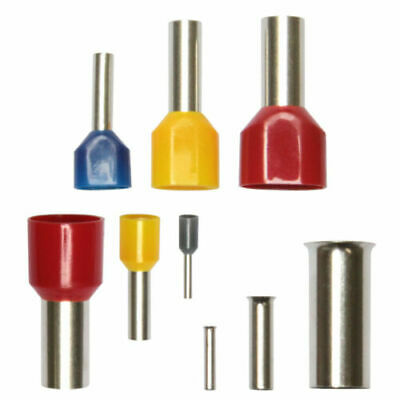 Wire Ferrules 0,25 -50mm ² Insulated Uninsulated Blank Twin Ferule Duo Assorted
