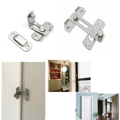 Stainless Steel Door Bolt Latch Slide Catch Lock Home Safety Gate Box 2pcs