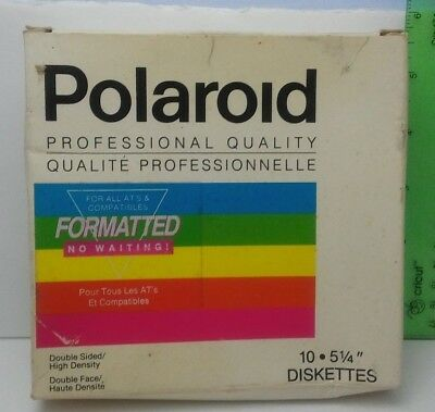 11 Polaroid Double Sided High Density 5.25 Diskettes Disks 1989