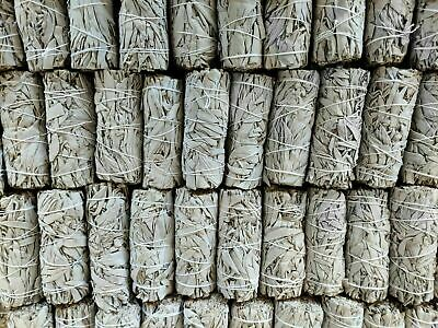 "Lot 50X White Sage Smudge Sticks/Wands 4 - 5"" House Cleansing Negativity Removal"