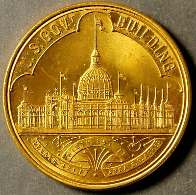 Hk 154 Ch Bu+ So-Called Dollar Columbian Exposition Official Medal – 1892