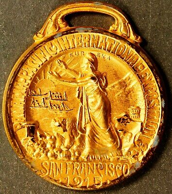 1915 Panama Pacific International Exposition , Gold-Plated, Incredibly Rare!