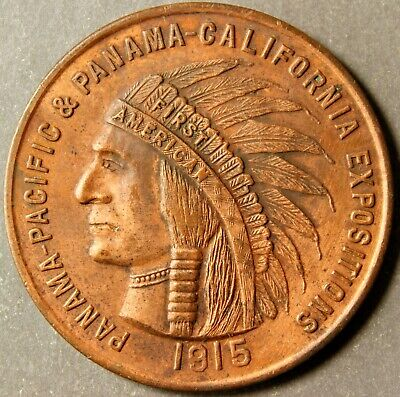 1915 Dual Expo Medal For The 1915 Ppie And The 1915 Pce In San Diego Copper 45Mm