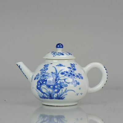 18C Chinese Porcelain Kangxi Blue And White Pear Shaped garden Teapot [:...