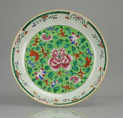 37CM 18C Chinese Porcelain Famille Rose Charger Southeast Asia Bencharon...