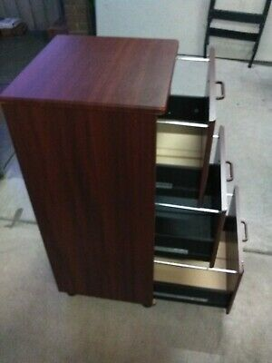 Filing Cabinet wooden - 3 drawer