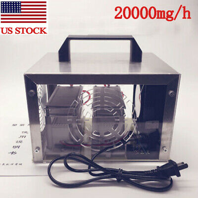 20g/h Ozone Generator Ozone Sterilize Purifier Air Cleaner Disinfection Ozonizer