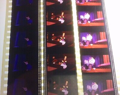 Disneys 1991 Beauty And The Beast Unmounted 35mm Film Cells P1