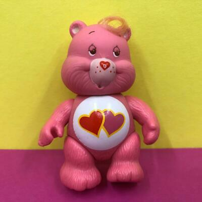 Vintage Care Bears Love A Lot Pink Poseable Toy Action Figure 1980s