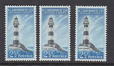 NEW ZEALAND^^^^^BOB   sc# EY32  x3  MNH ( Life Insurance ) $$$@ lar 1920nza200