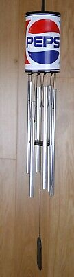 Pepsi Wind Chime Embossed Metal 6 Chimes Advertising Collectible Red Blue White