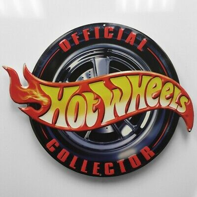 20 Inch Official Hot Wheels Collector Embossed Metal Sign