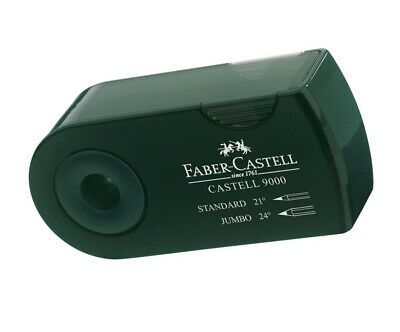 Faber-Castell F582800 DOUBLE HOLE SHARPENER GREEN